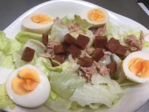 【男料理】 ツナエッグスパムサラダ